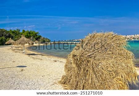 Beach of Novalja, Pag island, Dalmatia, Croatia - stock photo