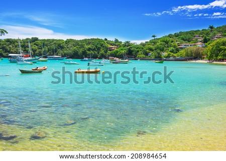 Beach of Ossos in Buzios, Rio de Janeiro Brazil - stock photo