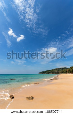 Beach of Phuket in Thailand