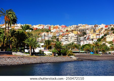Beach of San Sebastian de la Gomera, Canary Islands, Spain - stock photo