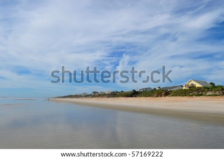Beach of St. Augustin - stock photo
