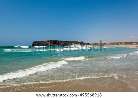 Beach of Sumhuram, Salalah, Dhofar, Sultanate of Oman