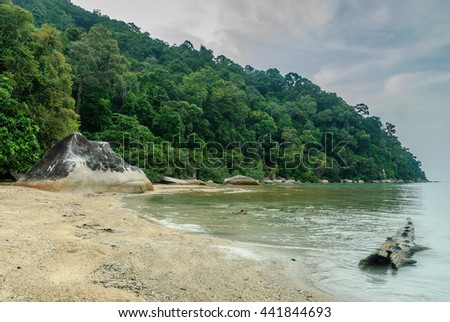 beach of the island of Besar in the islands Perhentian in Malaysia