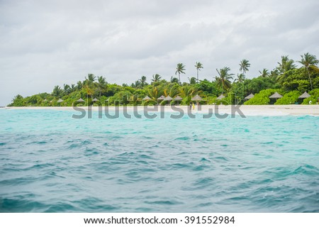 Beach of The Maldives Islands