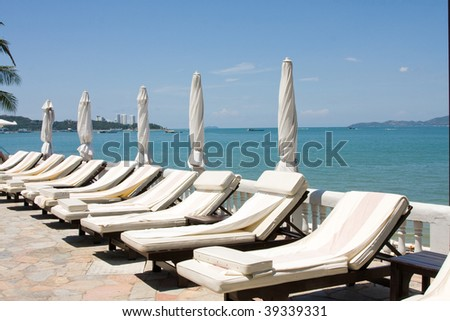 Beach on a sunny day.Pattaya city in Thailand