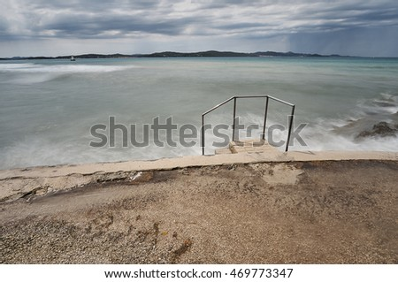 Beach on Adriatic sea.