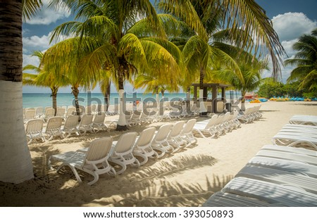 Beach on Cozumel Island, Mexico