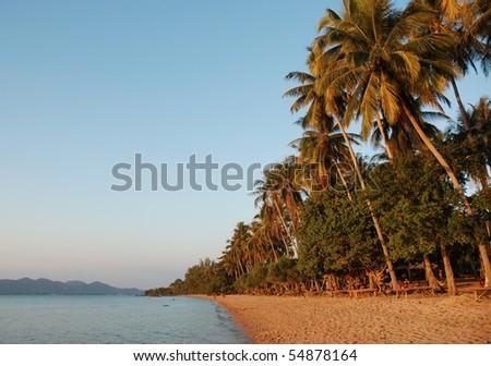 Beach on Rabbit Island, Cambodia - stock photo