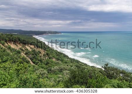 Beach on the Black sea, Bulgaria - stock photo