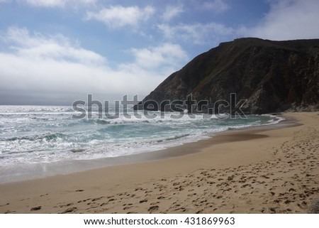 Beach on the Pacific coastline, California