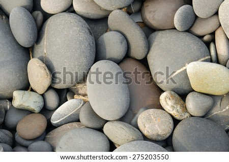 Beach pebbles background - stock photo