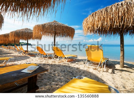 Beach relaxation - stock photo