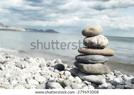 Beach Rocks - stock photo