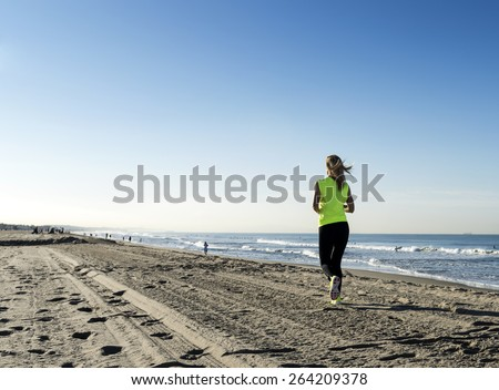 Beach Run - stock photo