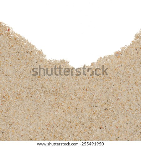 Beach sand background with copy-space on center. - stock photo