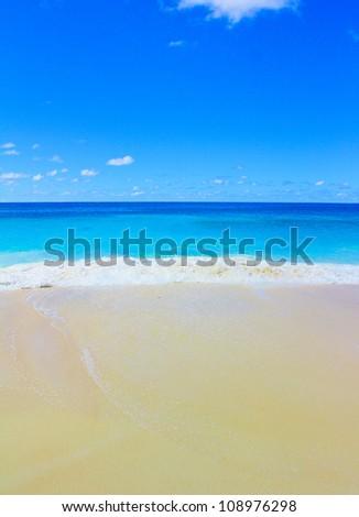 Beach Scene Sea - stock photo
