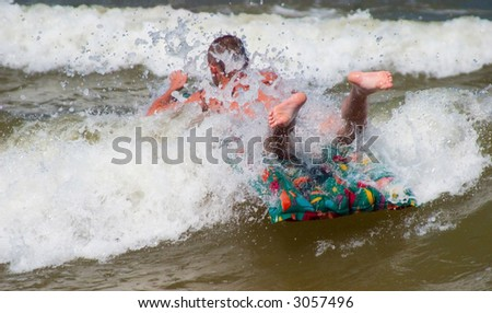 beach scene : surfing - stock photo