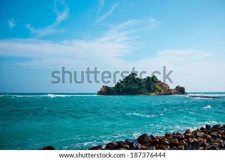 Beach side Sri Lanka - stock photo