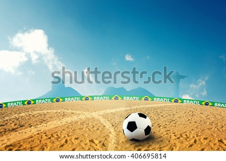 Beach Soccer 3D Illustration