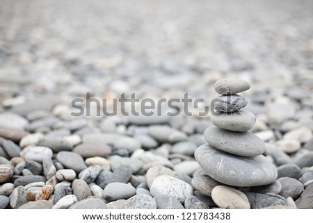 beach stone zen - stock photo