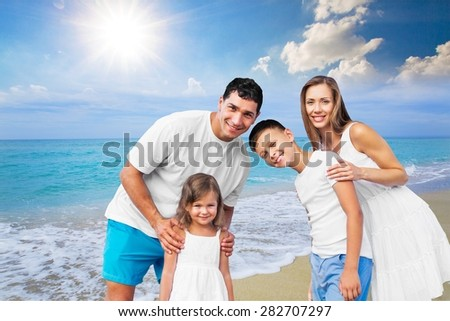 Beach, summer, group.
