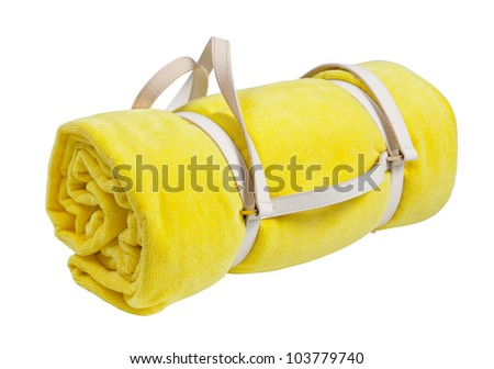Beach towel, isolated on white - stock photo