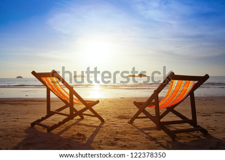 beach travel - stock photo