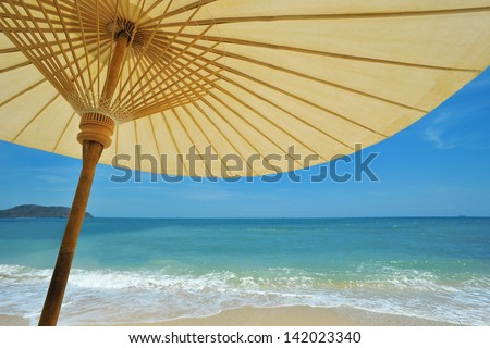 Beach umbrella. - stock photo