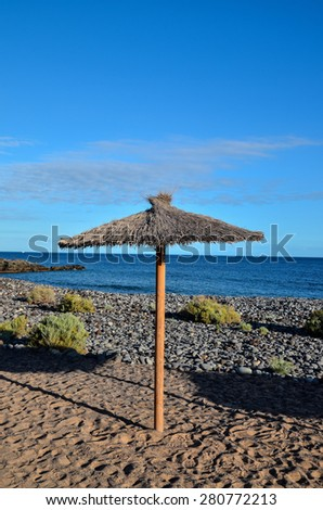 Beach Umbrella in Tenerife Canary Islands Spain Europe