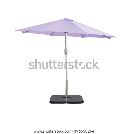 Beach umbrella isolated - stock photo