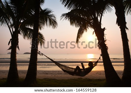 beach vacations - stock photo