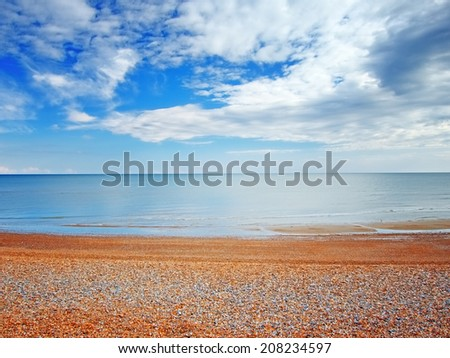 Beach view in Hastings,UK