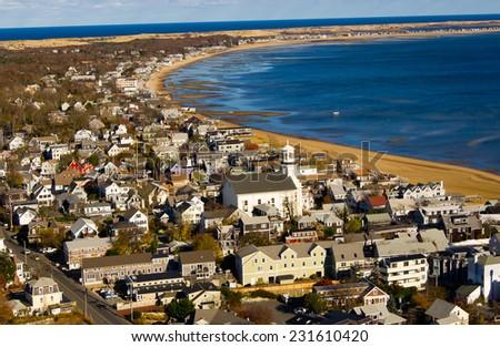 Beach view seashore, Cape Cod the USA - stock photo
