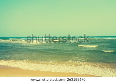 Beach vintage - vintage filter - stock photo