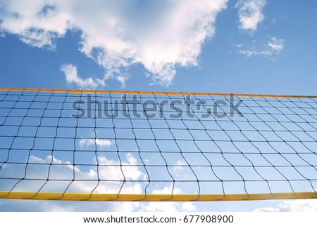 Beach Volley Ball Net On Beautiful Day