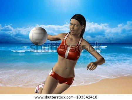 BEACH VOLLEYBALL - 3D