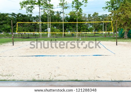Beach Volleyball field - stock photo