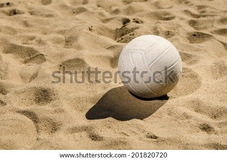 Beach volleyball in sand  - stock photo