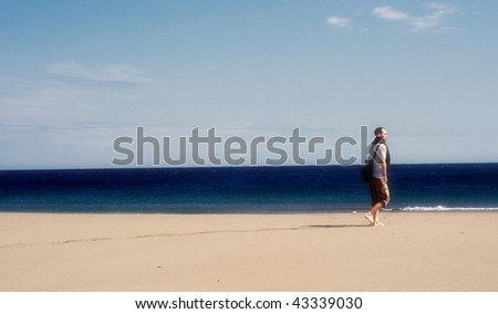 Beach Walk - stock photo