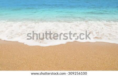 Beach wave background - stock photo