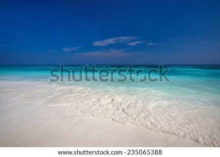 beach with clear waters and white fine sand, Similan Islands, Thailand - stock photo