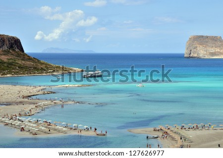 Beach with transparent turquoise water