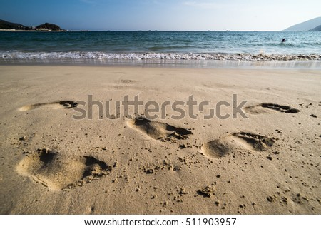 Beaches and footprints