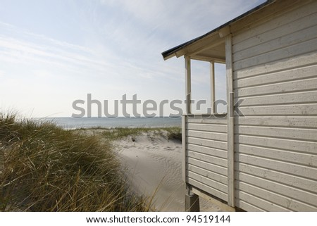 beachhut in Sweden - stock photo