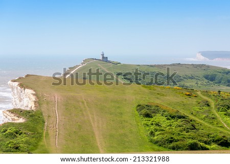 Beachy Head cliffs. East Sussex. England - stock photo