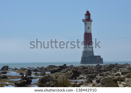Beachy Head Lighthouse Near Eastbourne, East Sussex, UK