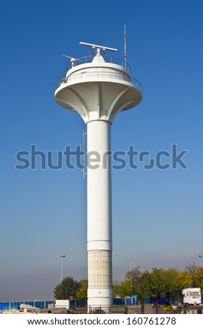 Beacon in Istanbul over blue sky