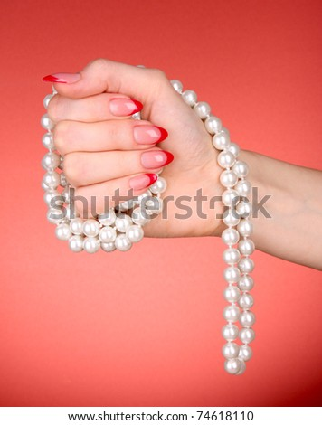 Beads in hand