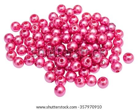 Beads isolated on white background - stock photo