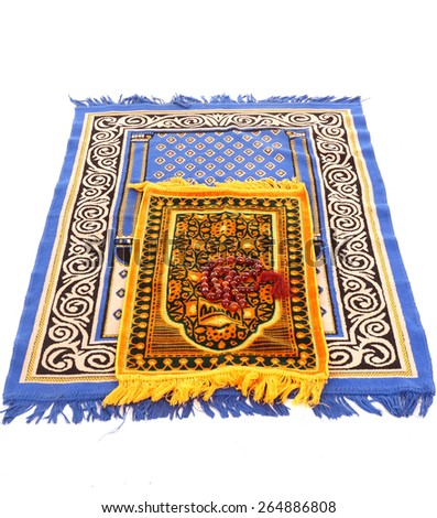 beads on a prayer mat  - stock photo